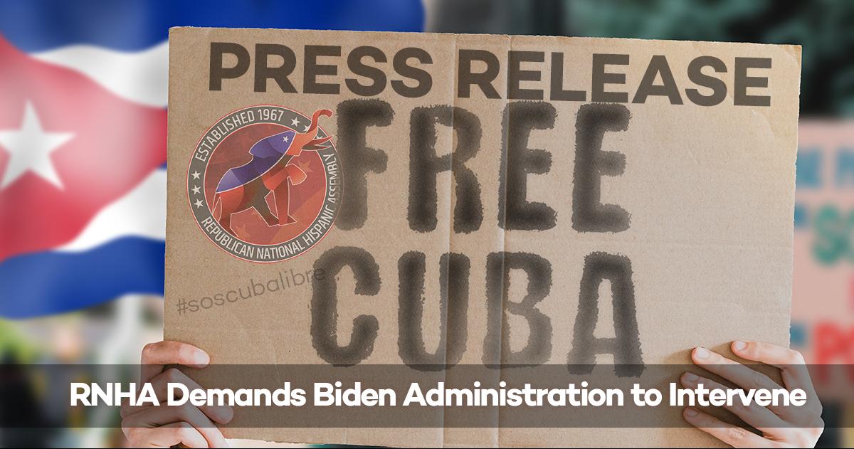 RNHA Demands Biden to take Action in Favor of Cuba